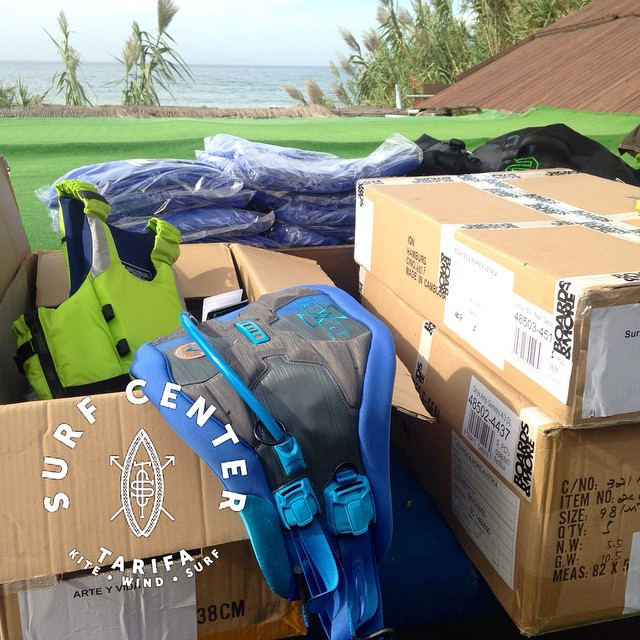 #tarifa #surfcentertarifa Feels like Christmas in September😜! New 2015 #ion products just landed #unpackaging come and try!! #wherethewindfindsyou